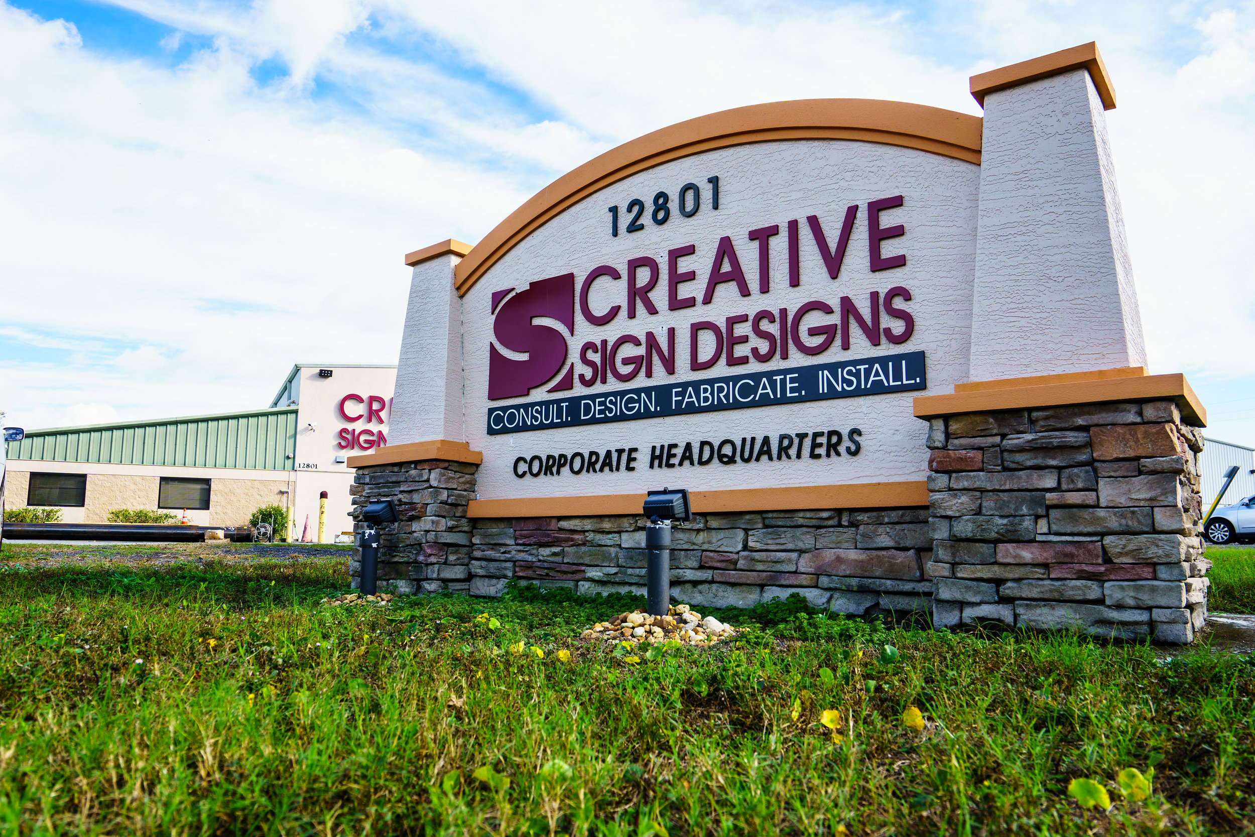Facilities Warehouses Creative Sign Designs