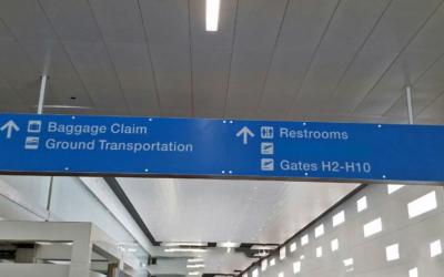 airport signage miami